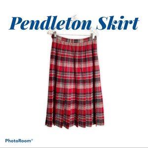 Vintage Pendleton Wool Pleated Skirt